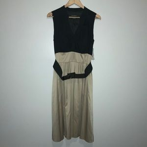 Jessica Howard NWT Tan Black Dress with Belt   14